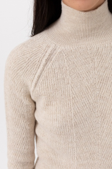 Beige roll-neck pullover for woman DONDUP F/W 21-22