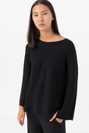 Black pullover for woman ALPHA F/W 21-22