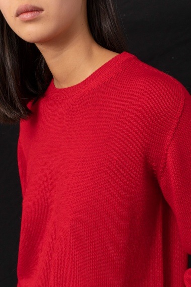Red pullover for woman ALPHA F/W 21-22