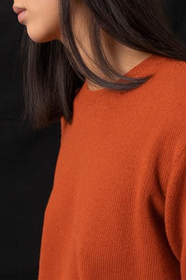 Orange pullover for woman ALPHA F/W 21-22