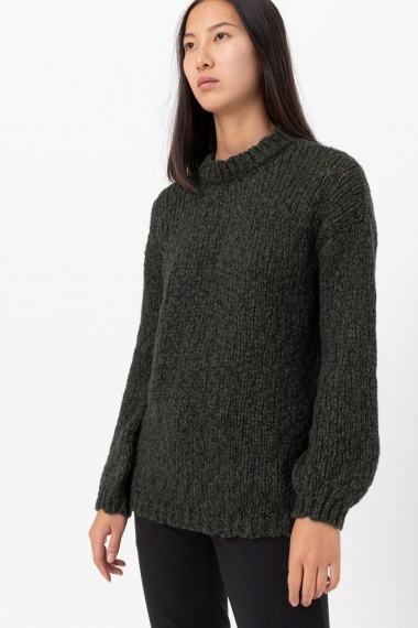 Green pullover for woman ALPHA F/W 21-22