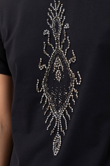 Black t-shirt for woman DONDUP F/W 21-22