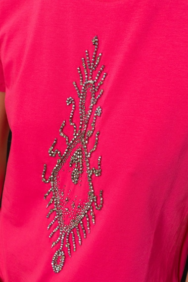 Pink t-shirt for woman DONDUP F/W 21-22