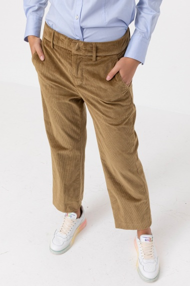 Green/brown trousers for woman DONDUP F/W 21-22