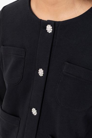 Black cardigan for woman SUN68 F/W 21-22