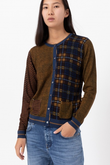 Patch cardigan for woman IN BED WITH YOU F/W 21-22