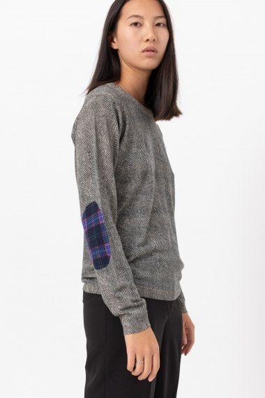 Herringbone pattern pullover for woman IN BED WITH YOU F/W 21-22