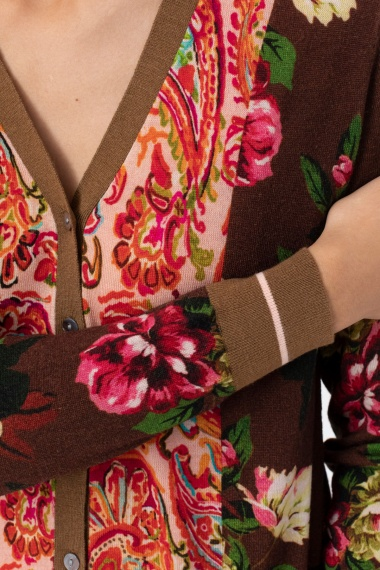Floral cardigan for woman IN BED WITH YOU F/W 21-22