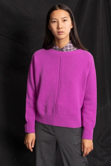 Lilac pullover for woman VANISE' F/W 21-22