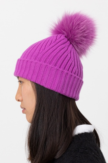 Purple cap for woman VANISE' F/W 21-22