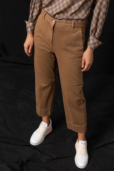 Camel tousers for woman NINE IN THE MORNING F/W 21-22