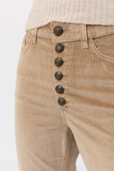 Beige trousers for woman DONDUP F/W 21-22