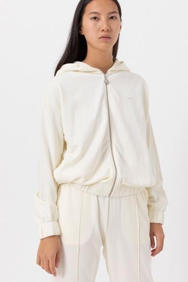 White sweatshirt for woman SUN68 F/W 21-22