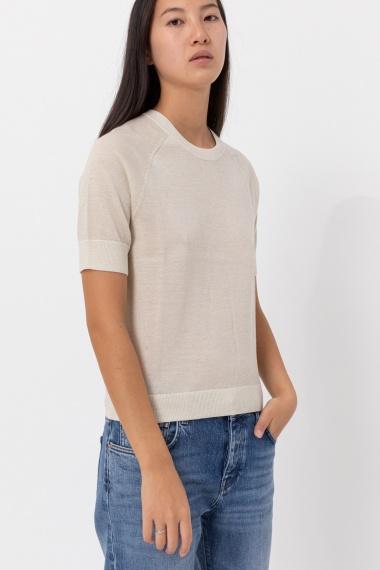 White t-shirt for woman SUN68 F/W 21-22