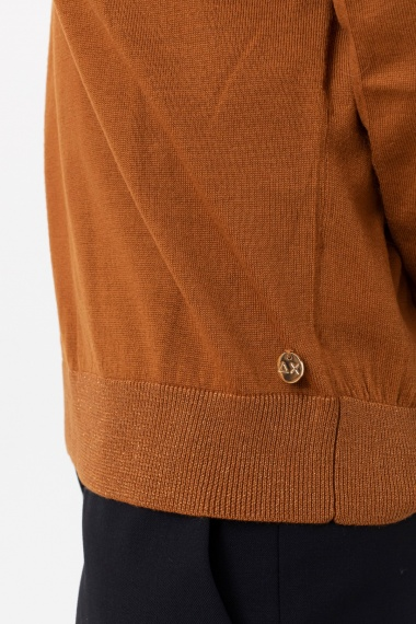 Rust pullover for woman SUN68 F/W 21-22