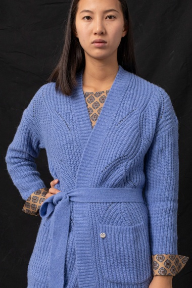 Light blue cardigan for woman SUN68 F/W 21-22