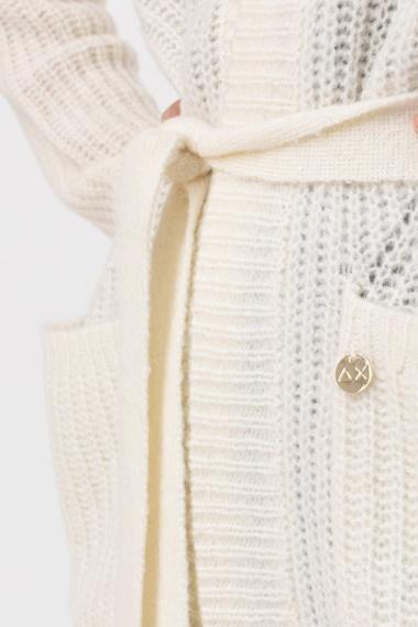 White cardigan for woman SUN68 F/W 21-22
