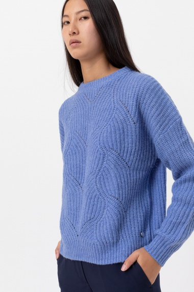 Light blue pullover for woman SUN68 F/W 21-22
