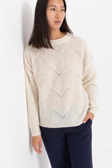 White pullover for woman SUN68 F/W 21-22