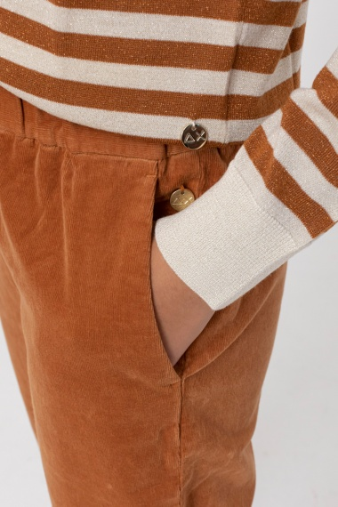 Rust trousers for woman SUN68 F/W 21-22