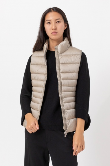 Champagne vest for woman SAVE THE DUCK F/W 21-22