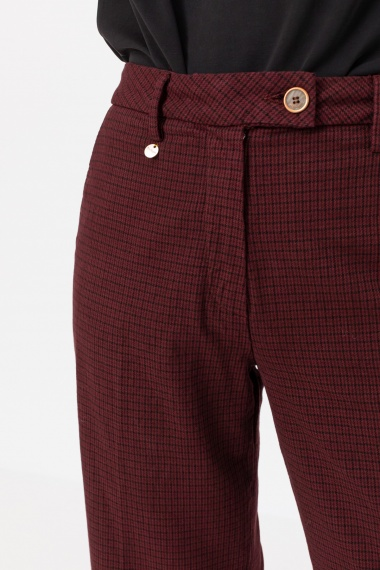Checked trousers for woman RE-HASH F/W 21-22