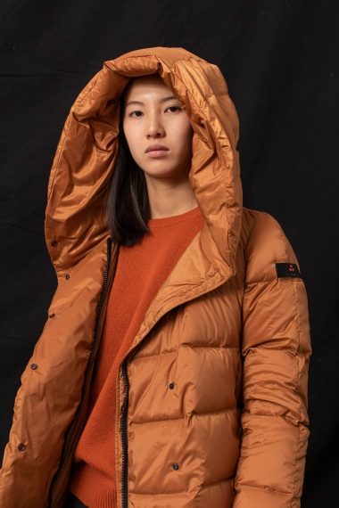 Rust down jacket for woman PEUTEREY F/W 21-22