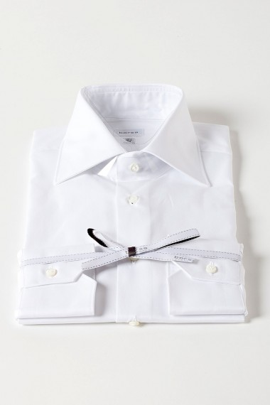 BORSA White shirt for man with french collar
