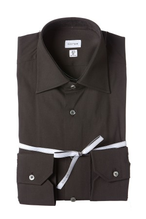 BORSA Dark brown shirt for man spring summer