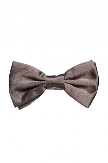 RIONE FONTANA Solid brown bow tie for man spring summer