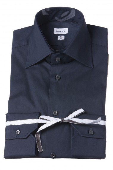 BORSA Dark blue shirt for man spring summer