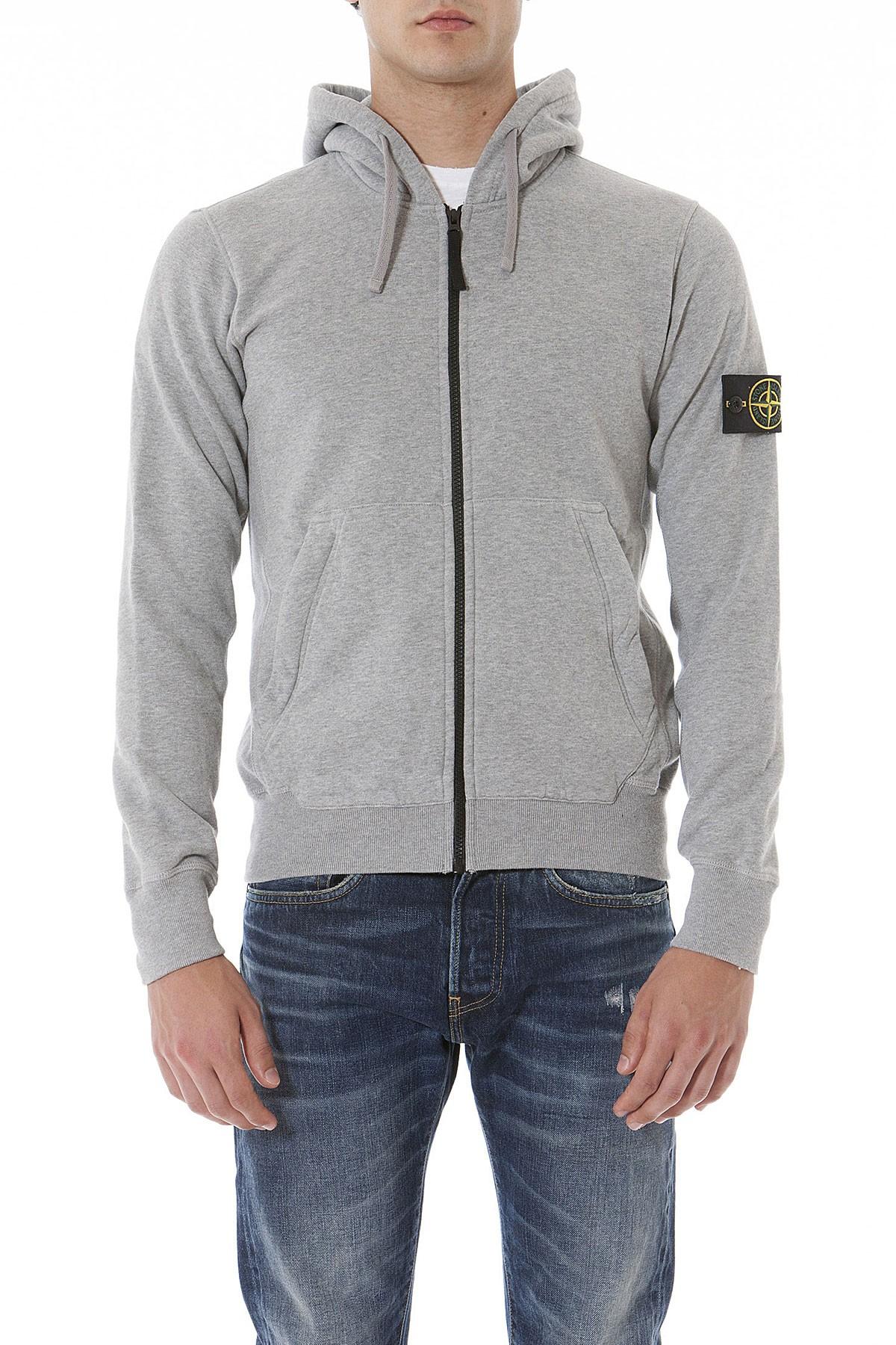 5ad5bfcbed70 STONE ISLAND Gray sweatshirt for men autumn winter 14-15 - Rione Fontana