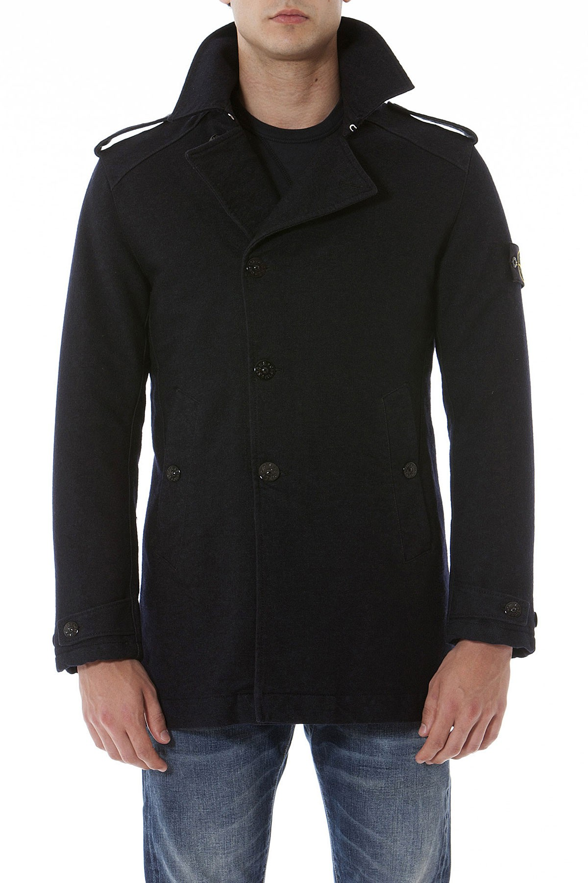 a40c42e4177b STONE ISLAND Dark blue jacket for men autumn winter 14-15. Tap to expand