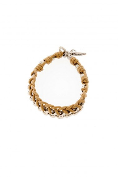 D'AMICO Bracelet in rope and metal for man