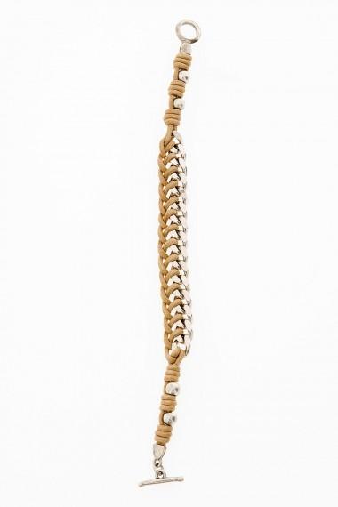 Braccialetto in corda e metallo per uomo D'AMICO
