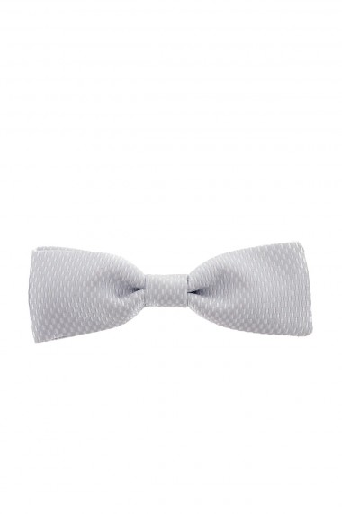 RIONE FONTANA Light gray papillon in silk for man