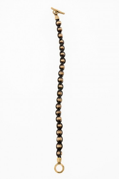 D'AMICO Bracelet with wood beads for man