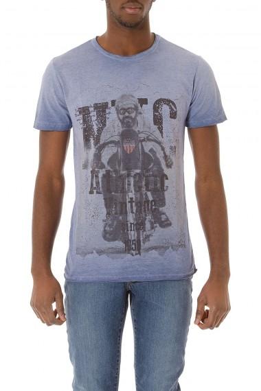 T-shirt azzurra con stampa per uomo P/E 2015 ATHLETIC VINTAGE