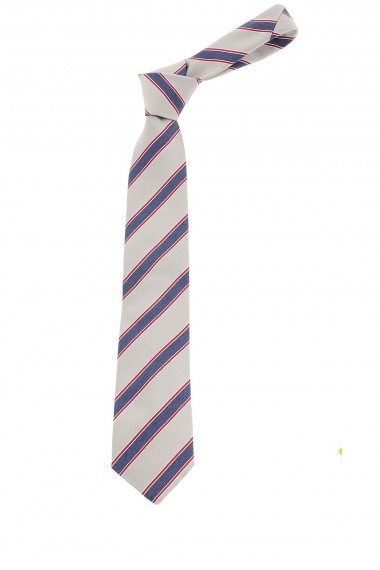 Gray regimental tie with blue stripes for man S/S 2015 FRANCO BASSI