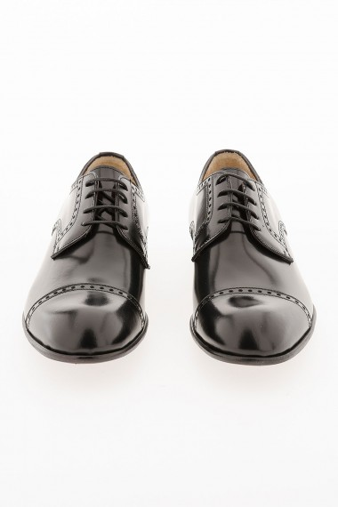 Black derby shoes for man spring summer  MIGLIORE