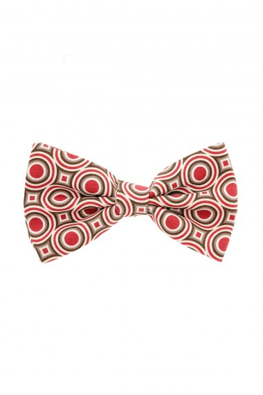 FRANCO BASSI Multicolor circular patterned bow-tie for man S/S 2015