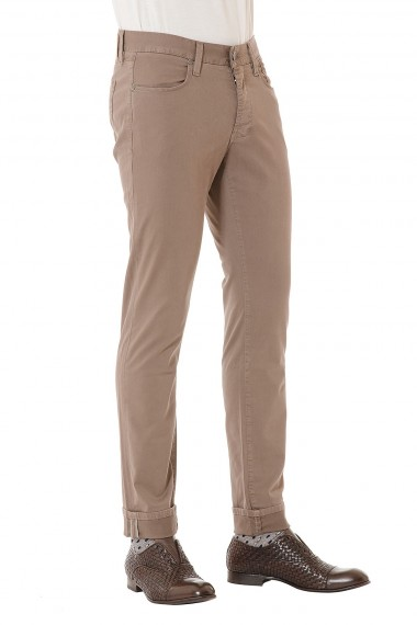 Pantalone marrone in cotone JECKERSON per uomo primavera estate 2015