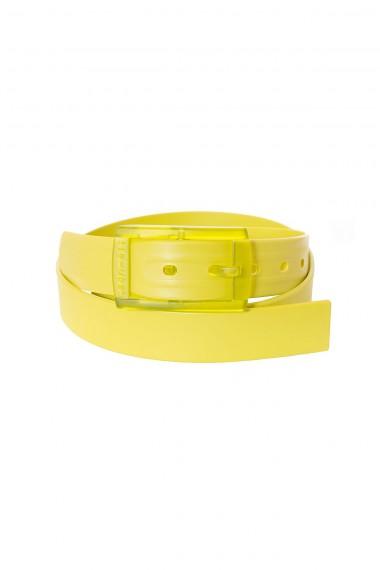 TIE-UPS Cintura gialla con fibbia trasparente P/E 15