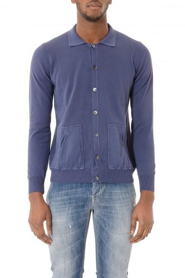 Cardigan blu in cotone per uomo RETOIS P/E 2015
