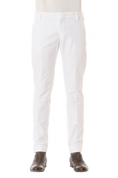 White trousers in cotton for man ENTRE AMIS spring summer 2015