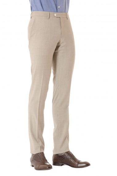 Beige and brown suit with hound's-tooth pattern CANTARELLI for man S/S 2015