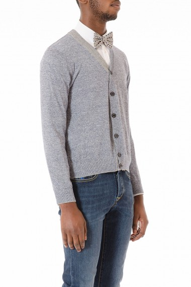Cardigan melange grigio e blu ELEVENTY per uomo primavera estate 2015