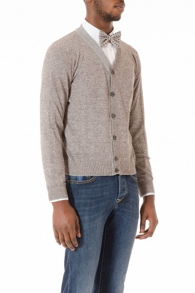 Brown and gray cardigan for men spring summer 2015 ELEVENTY