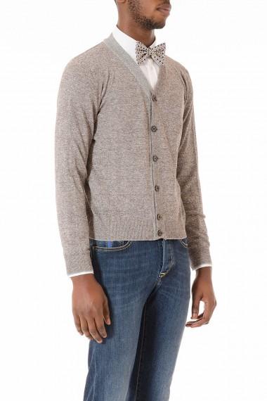 Cardigan melange grigio e marrone per uomo primavera estate 2015 ELEVENTY
