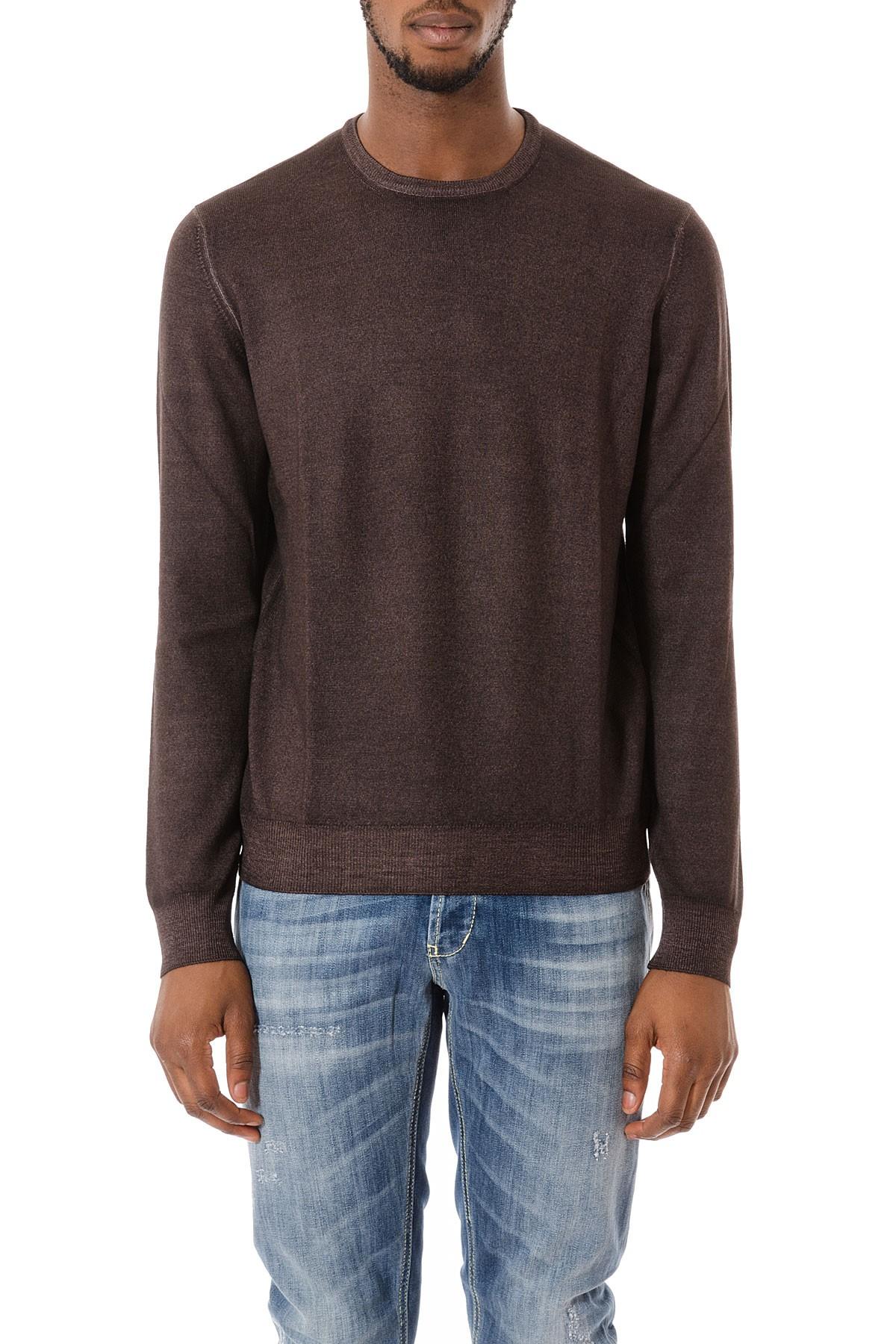 best website faa36 9881e Maglione marrone in lana vergine per uomo autunno inverno 15-16 FAY